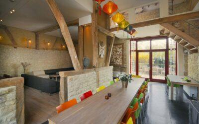 Lounge met eetzaal Hof de Brulle